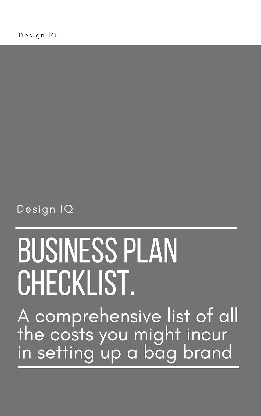 Graphic offering download of bag brand business plan checklist