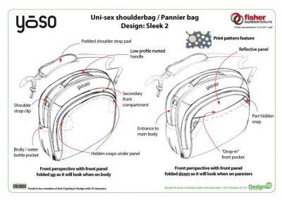 Fisher Outdoor Leisure Yoso Shoulder Bag Design Diagram