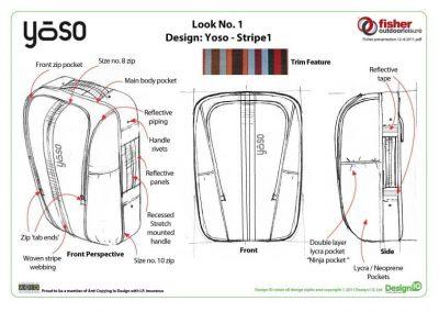 Fisher Outdoor Leisure Bag Design Yoso Stripe1 Diagram
