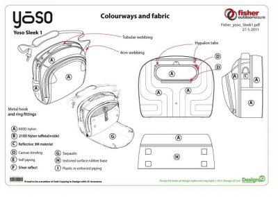 Fisher Outdoor Leisure Bag Design Diagram