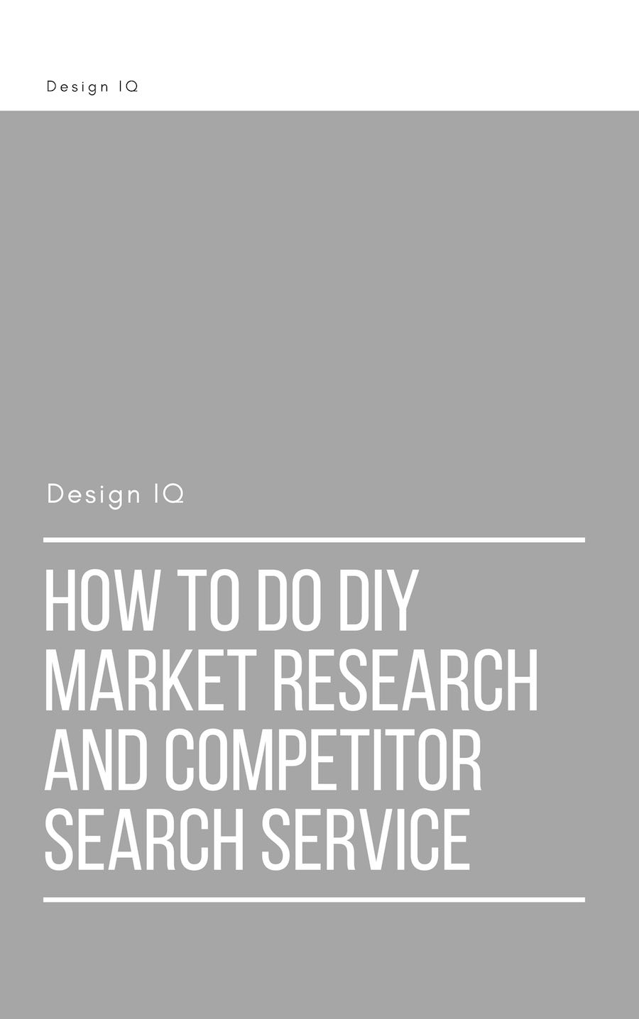 Graphic offering download of DIY Market Research and competitor search service
