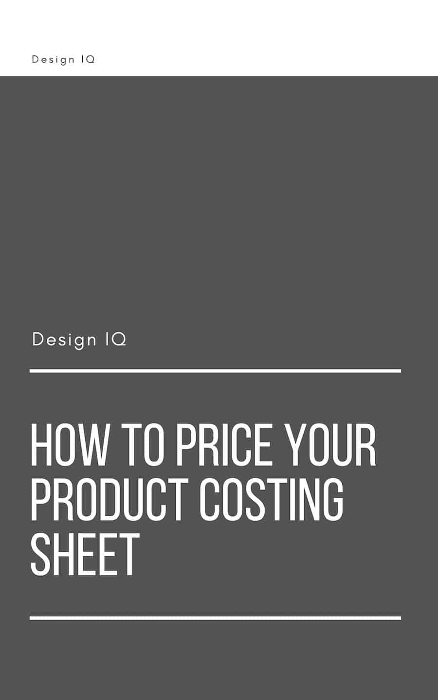 Graphic offering download of how to price your product