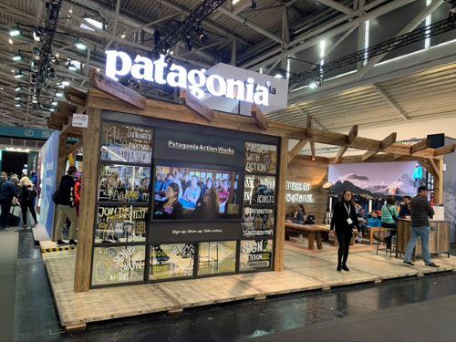 Patagonia stand at IPSO